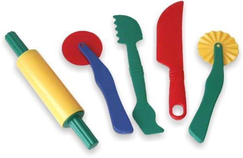 Miniland- Set de Accesorios para Pasta Blanda de 22 cm modelar, Multicolor (95251)