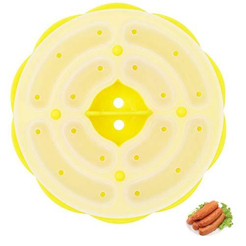 Xkfgcm Molde Redondo de Silicona para Perros Calientes Molde para Hornear Salchichas Bandeja para Hacer Salchichas de jamón Utensilios de Cocina