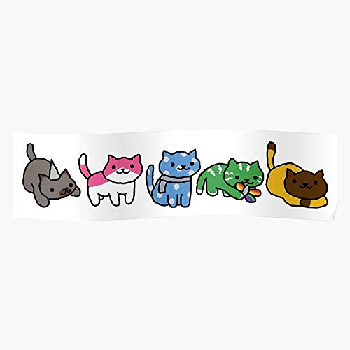 US201PT Band Cats Merch Pentatonix PTX Fandom Atsume Neko Music, Gift for Home Decor Wall Art Print Poster