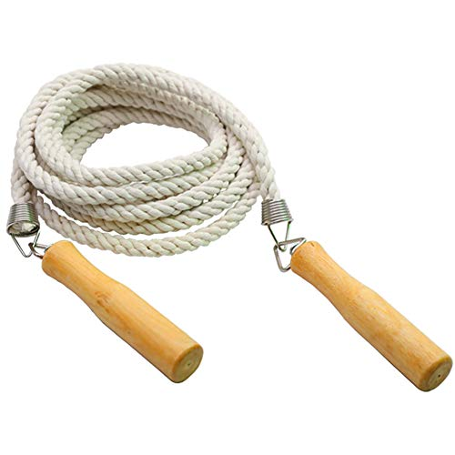 Skipping Rope, 16ft Long Jump Rope with Wooden Handle for Kids and Adult, Best Team Group Skipping Rope for School Sport and Outdoor Activity