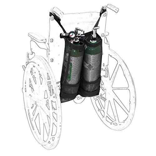 Rollstuhl-Sauerstoff-Tankrucksack, tragbarer Walker Carrier-Rucksackständertasche für D und E Sauerstofftank, für medizinisches Krankenhaus,Double