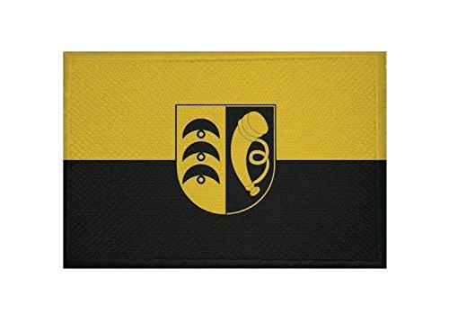 U24 Aufnäher Blaustein Fahne Flagge Aufbügler Patch 9 x 6 cm