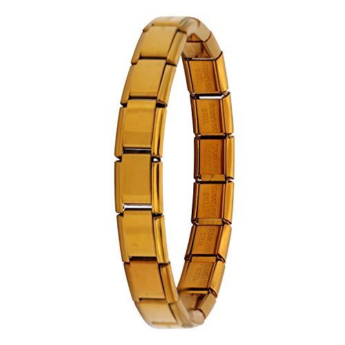 Bracciali braccialetto Gioielli,NEW Women s Jewelry 9Mm Width Itanlian Elastic Charm Bracelet Fashion Silver Stainless Steel Bangle ST-Silver Copper