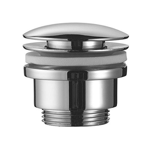 Design Ablaufgarnitur mit Push Up Funktion in chrom für den Waschtisch