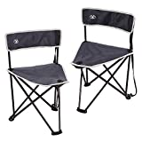 REDCAMP 2-Pack Tripod Chairs Folding, Lightweight Portable Tripod Seat Stool with Back, Small Camping Chairs for Adults Outdoor Backpacking, Blue