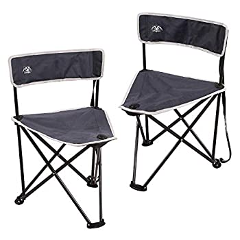 REDCAMP 2-Pack Tripod Chairs Folding Lightweight Portable Tripod Seat Stool with Back Small Camping Chairs for Adults Outdoor Backpacking Blue