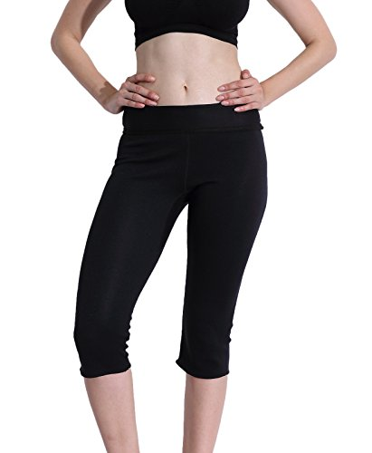 Ausom Hot Thermal Sauna Slimming Pants SCR Body Shapers Sweat Suit Workout Slimmer Leggings Fat Burner Shapewear to Lose Weight Womens