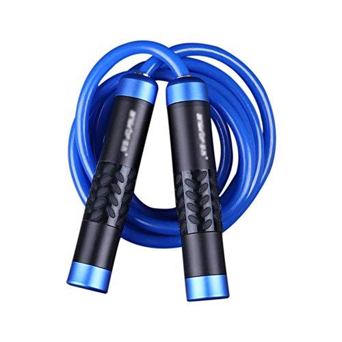 GLJY Fitness Springseil,Springseil,rutschfeste Qualität Aluminiumlegierung Griff und Verschlungenen Verstellbaren Seil,Schnelle Kugellager Fitness Übung,Fettverbrennung Praxis,Boxen Rot/Blau/Grün