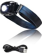 LICLI ヘッドライト 充電式 防水 LED センサー 機能 登山 釣り ランニング ヘッドランプ 明るさ100ルーメン 「 角度調整可 軽量 コンパクト 日本語説明書付き 」「 5つの点灯モード 赤色 ライト ストロボ 」 2色