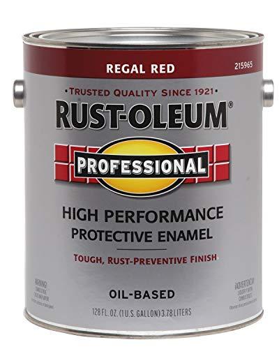 RUST-OLEUM 215965 Enamel Paint, 128 Fl Oz (Pack of 1), Regal Red
