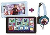 Lexitab Master Bundle Disney La Reine Des Neiges 2 - Tablette Enfant 7' avec Applications Éducatives, Jeux et Contrôles Parentaux - Pochette Protection + Casque Stéréo Frozen II Inclus - Android, WI-F