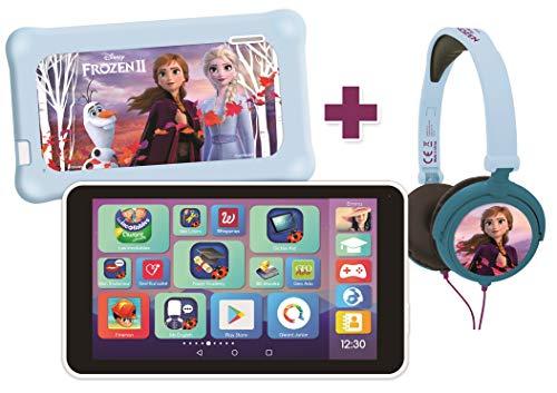 Lexitab Master Bundle Disney Die Eiskönigin 2 – Tablet für Kinder 7 Zoll mit pädagogischen Apps, Spielen und Steuerung der Eltern – Schutztasche + Kopfhörer Stereo Frozen II inklusive – Android, WI-F