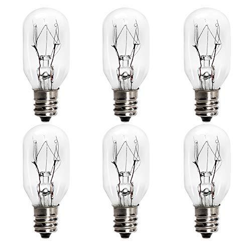 6 Pack Salt Lamp Bulbs,Plug in Wax Warmer Bulbs,Incandescent Bulbs,Replacement Light Bulbs for Himalayan Salt Lamps and Plug in Wax Diffuser,Salt Night Lights 25 Watt E12 Socket