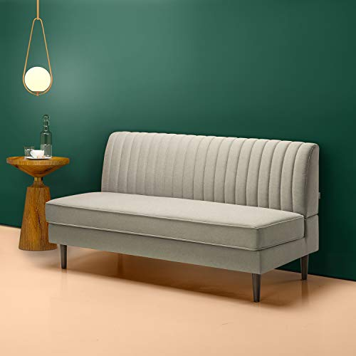 Zinus Jocelyn Contemporary Sofa Couch / Armless Design / Easy, Tool-Free Assembly
