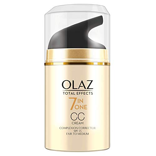Olaz Total Effects Anti-Aging 7-in-1 Complexion Correction CC Tagescreme, Helle Bis Mittlere Hauttypen 50ml