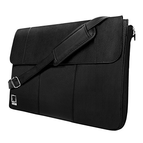 Lencca Axis 13 Slim Compact Laptop Messenger Bag Sling Bag for Lenovo Chromebook, Flex 3 4, Flex 5 14, IdeaPad, Miix 520 720, ThinkPad, Yoga Series 11.6 12 12.2 12.5 13.3