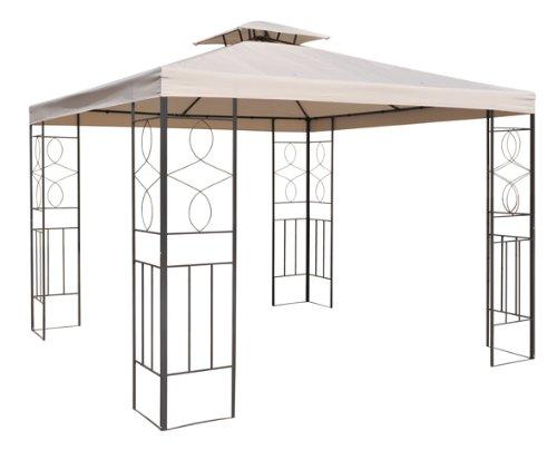 Ersatzdach für Metall Pavillon 2,97x2,97 !!! mit Kamin 82x82cm