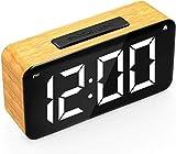 HUIQ® Sveglia Digitale Orologio Digitale Sveglie da Comodino con Snooze Time Temperatura Superficie dello Specchio Funzione LED Orologio Digitale per Ufficio Alimentato Tramite USB e Alimentato con