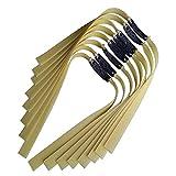 15Pcs Banda de Goma de Alta Resistencia para Tirachinas de Tiro Pesado Bandas Planas de Repuesto Bolsillo para Tirachinas de Microfibra, Catapultas de Alta Velocidad para Cazar,0.7mm,L