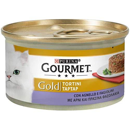 Gourmet Gold Tortini 85gr con Agnello e Fagiolini Confezioni da 24 Pezzi