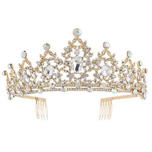 Novia Corona Boda Tiara Exquisita Sombreros Fiesta Corona Tiara Mujer Accesorios para...