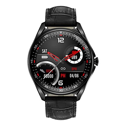 HQPCAHL Smartwatch Reloj Inteligente con Llamada Bluetooth/Pulsómetros/Monitor de Sueño, 23 Modos Deportivos, Fondo de Bricolaje, Pulsera Actividad Inteligente,Black e