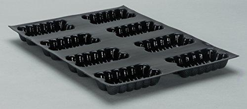Cakes cannelés professionnels 400 x 300 mm, à 8 Empreintes L 110 x lg 60 x H 25 mm