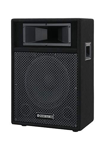 McGrey PA-110 10/2 passive DJ PA Lautsprecher Box (2-Wege, Trapezform, 50/100/200 Watt RMS/Musikleistung/Peak, 10