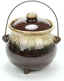 Brown Drip by USA, Earthenware Bean Pot, Handle