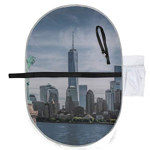 Bébé Portable Pad Imperméable Pliable Statue Liberty World Trade Center Tapis à Couches Tapis de Voyage Pendaison Pratique