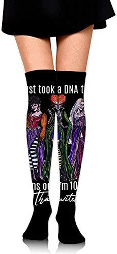 JKHHG Ich habe gerade einen DNA-Test gemacht. Es stellte sich heraus, dass ich 100% der Halloween Men und Women Compression Socks für Laufen/Wandern/Sport/Erholung/Reisen und Krankenschwestern hexe