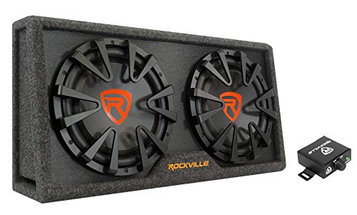 Rockville RG212CA Dual 12 inches Slim Vented Powered Car Subwoofer Enclosure 2000 Watt