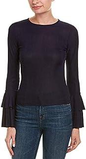 JOA Womens Ruffled Bell Sleeves Blouse
