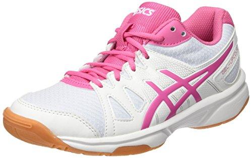 ASICS Mädchen Gel-Upcourt Gs Badminton Schuhe, Mehrfarbig (White/Azalea Pink/White), 33 EU