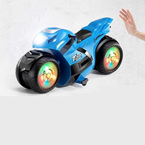 Darenbp Fernbedienung Auto 2,4 GHz Spray Fernbedienung Motorrad Stunt Drift Motorrad Fernbedienung Spielzeug Auto Monster Truck für Kinder und Erwachsene Kinder Jungen Mädchen Geschenke Spielzeug