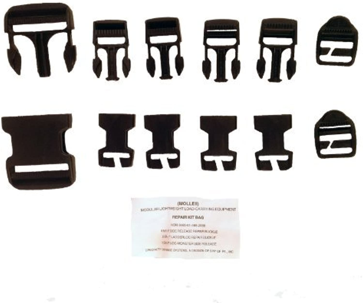 MOLLE II Replacement and Repair Buckle Set BLACK by Special Defense Systems