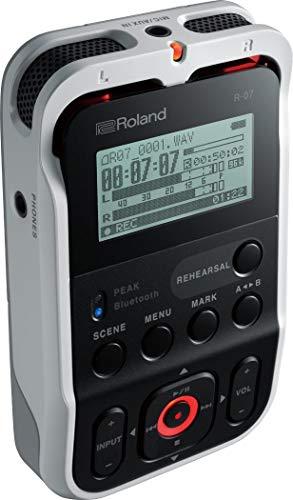 Roland R-07 Hochauflösender tragbarer Audiorecorder, Weiß