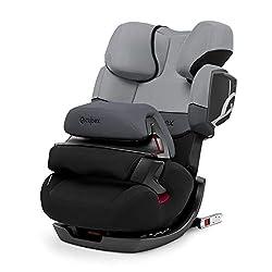 CYBEX Silver 2-in-1 Kinder-Autositz Pallas 2-Fix, Für Autos mit und ohne ISOFIX, Gruppe 1/2/3 (9-36 kg), Ab ca. 9 Monate bis ca. 12 Jahre, Cobblestone