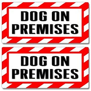 Graphics and More Dog On Premises Sign - Alert Warning - Set of 2 - Window Business Stickers