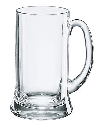 Borgonovo 12003720 Icon Bierseidel, Bierkrug, Bierglas, 520ml, mit Füllstrich bei 0.4l, Glas, transparent, 6 Stück