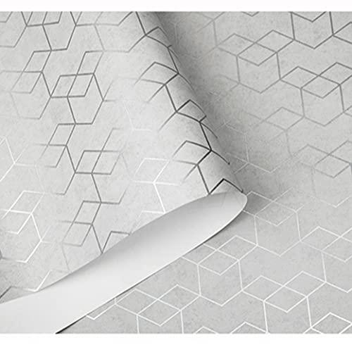 Tapete Moderne Tapete Beige Weiß Grau Wandverkleidung Schlafzimmer Wohnzimmer Tapete Geometrische Volumen Tapete Dekoration Wandbild Wandaufkleber (wp0604)