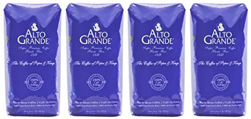 Alto Grande Super Premium Coffee Whole Bean, Medium Dark Roast, 2 pound bag (Pack of 4)