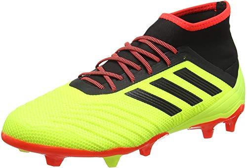 adidas Herren Predator 18.2 FG Fußballschuhe, Gelb (Amasol/Negbás/Rojsol 000), 45 1/3 EU