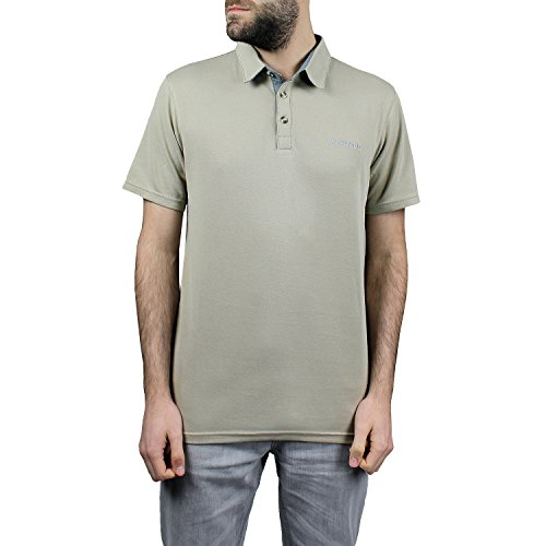 Columbia Polo à Manches Courtes Homme, NELSON POINT POLO, Modal/Polyester, Brun (British Tan), Taille: M, EO0035
