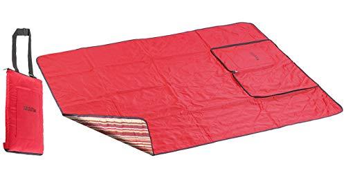 PEARL Decke: 3in1-Multi-Picknickdecke mit Sitzkissen & Zudecke, waschbar, 150x130cm (Strandmatten)