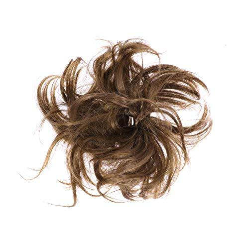 Frcolor Mesdames Mode Pony Tail Extension de Cheveux Chun Hairpieces Chouchou Élastique Vague Hairpieces Synthétiques Bouclés (6A)