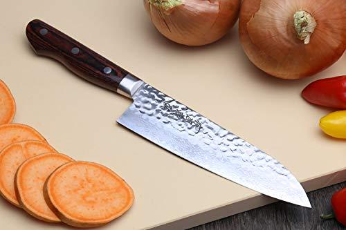YOSHIHIRO- Hammered Damascus Chef Knife 6PC SET - MADE IN JAPAN