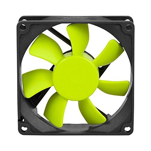 Coolink SWIF2-80P - Ventilador de PC (Ventilador, Carcasa del Ordenador, 8 cm, Negro, Amarillo, 0,09A, 1,08W)