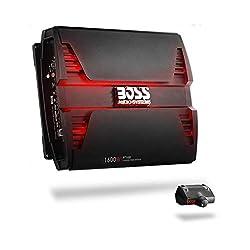 BOSS Audio Systems PT1600 2 Channel Car Amplifier – Phantom Series, 1600 Watts, Full Range, Class A/B, 2-8 Ohm Stable, Mosfet Power Supply, Bridgeable