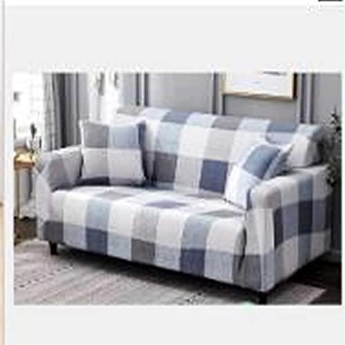 ZFDM Universal-Größe 1/2/3/4 Sitzer-Sofa-Abdeckung Stretch-Elastizität SEAT-COUK-COUTS-Coupe SPREET Eck Sofa Couch Cover Single Lovesat (Color : K786, Specification : 2xPillowcase 45x45cm)